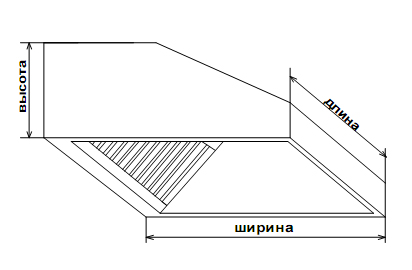 Зонт пристенный 60х80